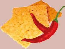 Hurrà  snack al peperoncino con Aloe Vera - 100 gr.