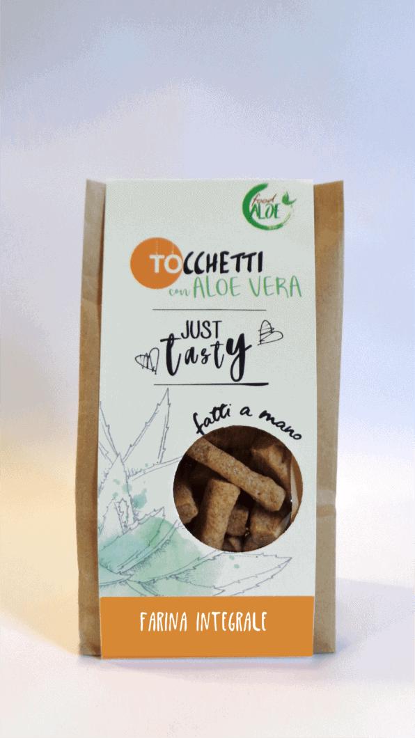 Tocchetti con Farina Integrale semi di Quinoa e Aloe Vera - 150 gr.