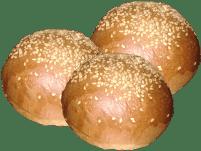 Paninini per Hamburgher con semi di sesamo 80gr ( CF 3 P)