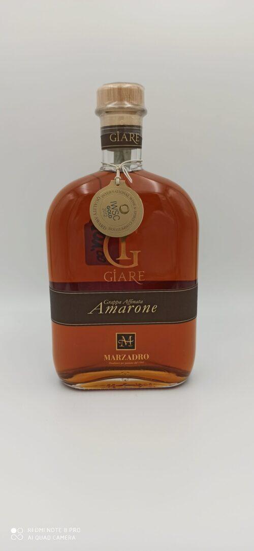 Grappa Giare Amarone Affinata Marzadro cl 70
